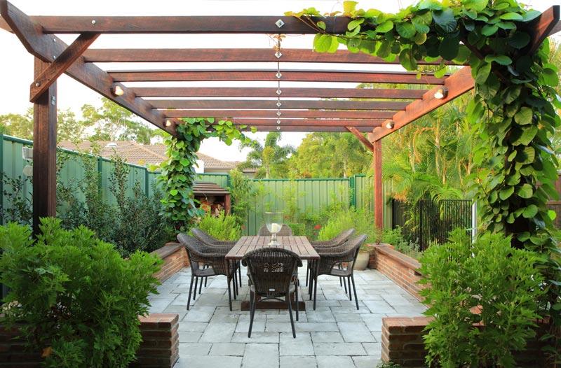 Tuscan Courtyard - Amber Leaf Landscaping | Sunshine Coast ...
